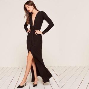Reformation Aria Dress (BLACK)